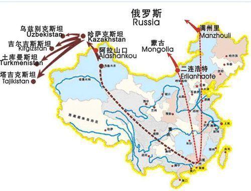提供中亚,俄罗斯,蒙古国际铁路运输服务图片